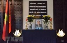 Hommage à l'ancien PM Phan Van Khai aux Etats-Unis, en Suisse et à d'autres pays