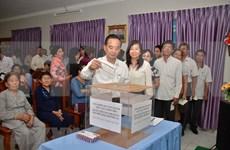 Des Vietnamiens du Cambodge soutiennent les soldats et les habitants de Truong Sa
