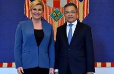 La présidente croate plaide pour le bel essor des relations Vietnam-Croatie