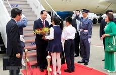 Le président Tran Dai Quang et son épouse en visite d'État au Japon