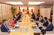 Le vice-PM Pham Binh Minh s'entretient avec le ministre japonais des AE