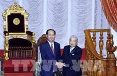 Entrevue Tran Dai Quang-président de la Chambre des conseillers du Japon