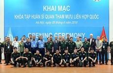 Formation d'officiers d'état-major pour l'ONU au Vietnam
