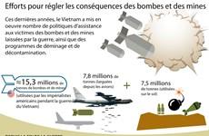 Efforts pour régler les conséquences des bombes et des mines