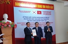 Hai Phong: remise de la licence d'investissement à Pyeong Hwa Automotive