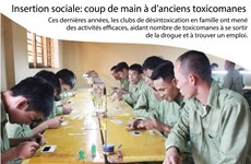 Insertion sociale: coup de main à d'anciens toxicomanes