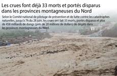 Les crues font déjà 33 morts et portés disparus
