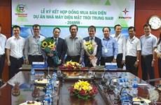 Une centrale solaire de 5.000 milliards  de dongs sera construite à Ninh Thuan