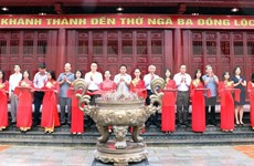L'inauguration du temple du carrefour de Dong Loc à Ha Tinh
