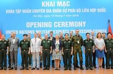 Ouverture d'un cours de formation des experts militaires de la mission de l'ONU à Hanoi