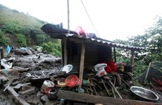 Quinze morts et portés disparus à cause des glissements de terrain