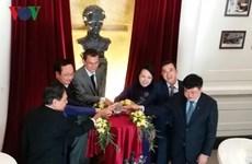 Inauguration d'un buste de Marie Curie à l'Hôpital national d'oncologie