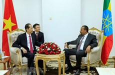 Entrevue entre le président Trân Dai Quang et le Premier ministre éthiopien Abiy Ahmed