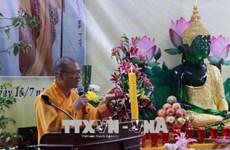 La communauté des Vietnamiens au Laos célèbre la fête Vu Lan