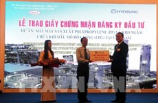 La R. de Corée investit plus de 1,2 milliard de dollars à Ba Ria-Vung Tau
