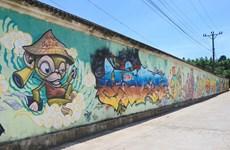 Des peintures murales géantes à Hue