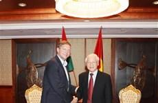 Le secrétaire général du PCV reçoit le président du Parti socialiste hongrois