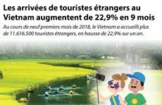 [infographie] Les arrivées de touristes étrangers au Vietnam augmentent de 22,9% en 9 mois