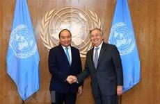 Le PM Nguyen Xuan Phuc de retour à Hanoi après sa participation au débat de l'AG de l'ONU