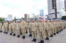 Maintien de la paix : des cadres et soldats vietnamiens partent pour le Soudan du Sud