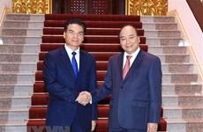 Le PM Nguyen Xuan Phuc reçoit le ministre-président du bureau du PM laotien