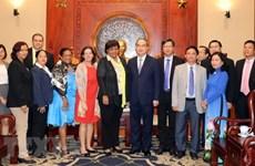 Un dirigeant de HCM-Ville reçoit la délégation du Parti communiste de Cuba