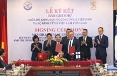Vietnam et Finlande renforcent leur coopération dans les sciences, technologies et l'innovation