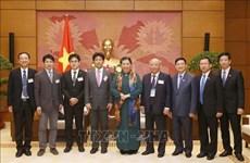 La vice-présidente de l'AN  Tong Thi Phong reçoit des experts japonais de la santé
