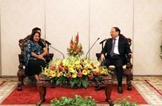 Une délégation de la Fédération des femmes cubaines en visite à HCM-Ville
