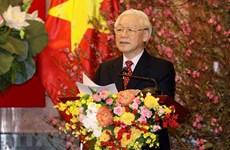Le SG et président Nguyen Phu Trong formule les meilleurs vœux du Têt