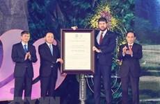 Le géoparc de Non Nuoc Cao Bang reçoit le certificat de l'UNESCO