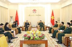 Le général Ngô Xuân Lich reçoit le nouvel ambassadeur  de Chine au Vietnam