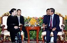 Entrevue entre la présidente de l'AN Nguyen Thi Kim Ngan et le Premier ministre cambodgien