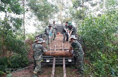 Déminage de 25 obus datant de la guerre à Quang Tri