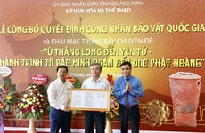 Deux anciens objets de Quang Ninh reconnus trésors nationaux