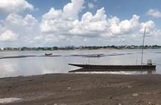 Le Mékong à Nakhon Phanom (Thaïlande) au plus bas niveau depuis un siècle