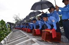 Dong Thap : inhumation de 99 restes de soldats vietnamiens tombés au Cambodge