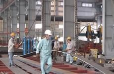 L'indice de la production industrielle en hausse de 9,5% en huit mois