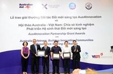 Remise des prix pour le partenariat dans l'innovation Aus4Innovation