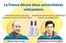 La France décore deux universitaires vietnamiens