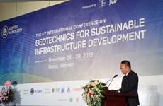 Conférence internationale sur la géotechnique pour le développement des infrastructures durables