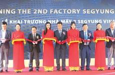 Inauguration de la deuxième usine de la compagnie sud-coréenne Segyung Vina à Bac Ninh