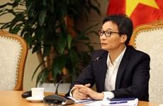 Réunion pour parachever les projets de documents du XIIIe Congrès national du Parti