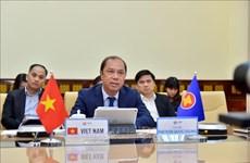Vidéoconférence de hauts officiels de l'ASEAN