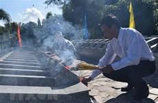 Les restes de 72 soldats inhumés à Kien Giang