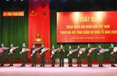 """Cérémonie marquant le départ de la délégation militaire du Vietnam participant aux """"Army Games 2020"""""""