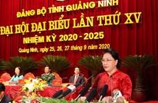 La présidente de l'AN exhorte Quang Ninh à optimiser son potentiel