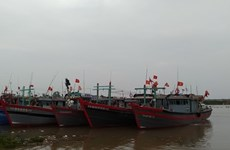 La tempête Nangka a touché le golfe du Bac Bo le 14 octobre