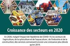 Croissance des secteurs en 2020