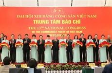 Inauguration du Centre de presse du 13e Congrès national du Parti